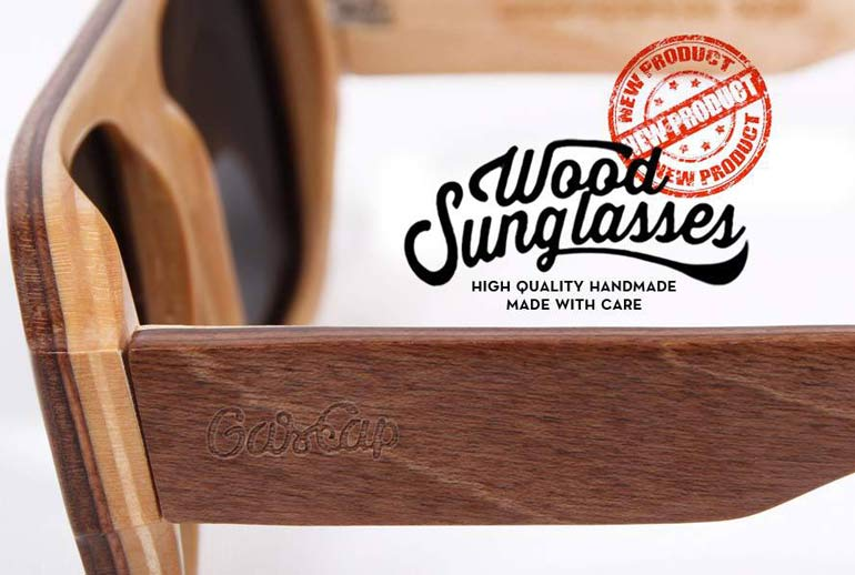 GasCap wood Sunglasses